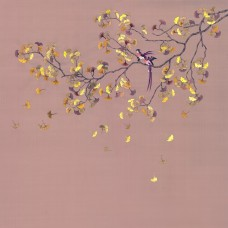 BIRDS ON A GINKO TREE