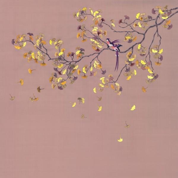 BIRDS ON A GINKO TREE