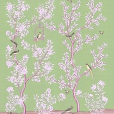 Chinoiserie white with bird cade
